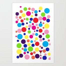 Polk-a-dot martini Art Print