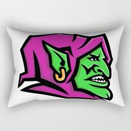 Goblin Head Mascot Rectangular Pillow