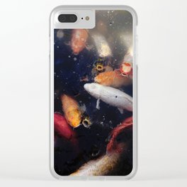 Colorful Koi Fish Clear iPhone Case