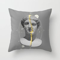 mythology Throw Pillows featuring Mythology by Enrique Larios