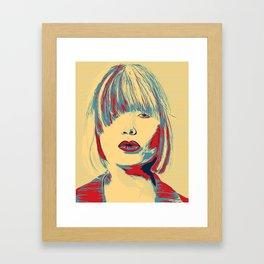 Funky Lady #PopArt Framed Art Print