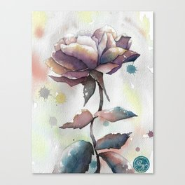 Mourning Rose Canvas Print