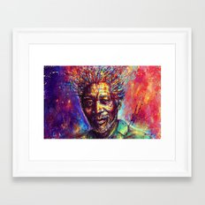 Morgan Freeman Framed Art Print
