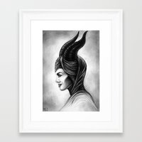 maleficent Framed Art Prints featuring Maleficent  by Denda Reloaded