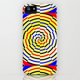 Yellow Spiral iPhone Case