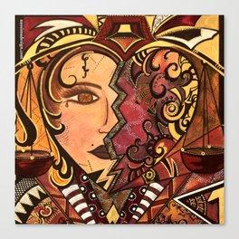 Astrology Libra Waage Fullcolor Canvas Print