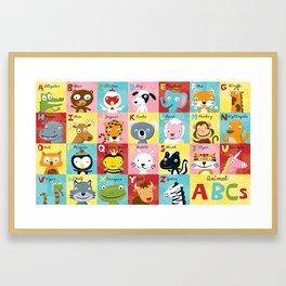 Animal ABCs Framed Art Print