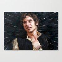 han solo Canvas Prints featuring Han Solo by Raiecha