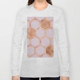 Copper sorbet geometric beehive Long Sleeve T-shirt