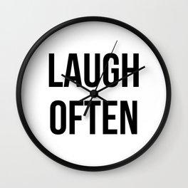 Laugh often Wall Clock