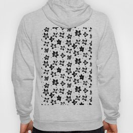 Reconstructed Floral Pattern - Achromatic Goth Hoody