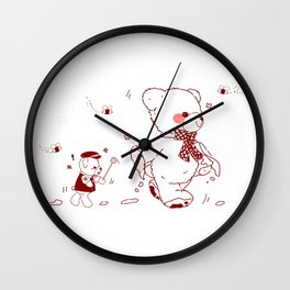 The Adventures of Bear and Baby Bear-Who took the honey Wall Clock