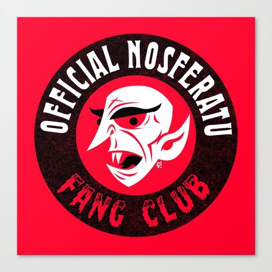 Nosferatu Fang Club Canvas Print