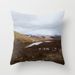 Peace By the lake Throw Pillow