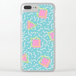TOTALLY RAD 80s / 90S RETRO CALIFORNIA PATTERN Clear iPhone Case