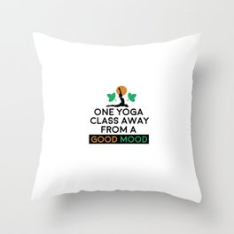 Yoga Class Yoga Pose Meditation Good Mood Namaste Throw Pillow