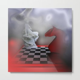 the other Chess-Lady Metal Print