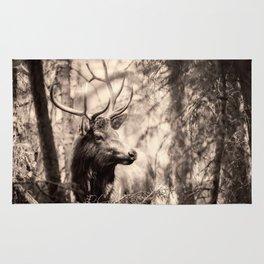 Watchful Elk Rug