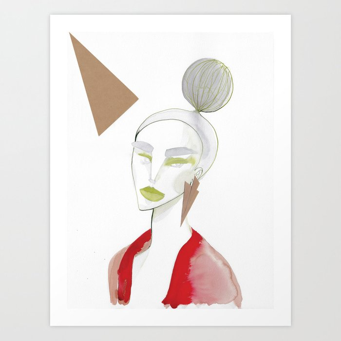 Marleen has sharp edges Art Print