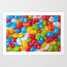 Yummy Colorful Candy Jelly Beans Art Print