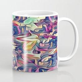 Midnight Floral Abstract Coffee Mug