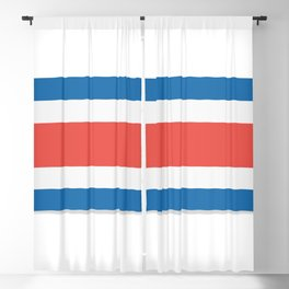 Flag of Costa Rica. The slit in the paper with shadows. Blackout Curtain