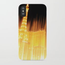 The golden fountains of Bellagio in Vegas iPhone Case