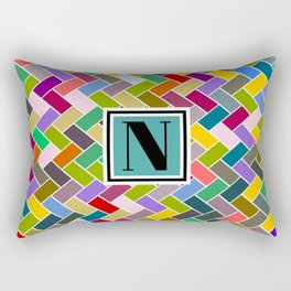 N Monogram Rectangular Pillow