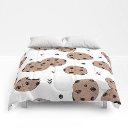 Chocolate chip cookie jar illustration pattern Comforters