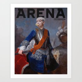 King TOP for Arena Homme Art Print