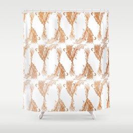 Phoenix in Copper Shower Curtain