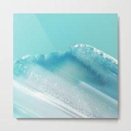 Geode Crystal Turquoise Blue Metal Print