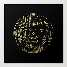 Gold Disc Canvas Print