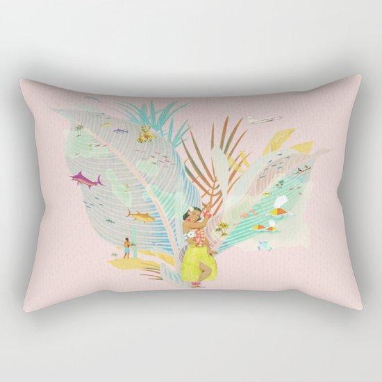 Aloha, Hawaii (Pink) Rectangular Pillow