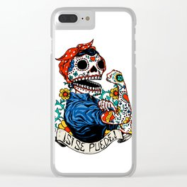 We Can Do It Skull Clear iPhone Case