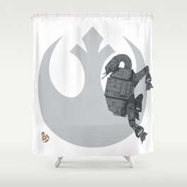 Droid Eek! (grey) Shower Curtain