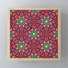 Joyful Ethnic Patterns of Celebration: Version 1 Framed Mini Art Print