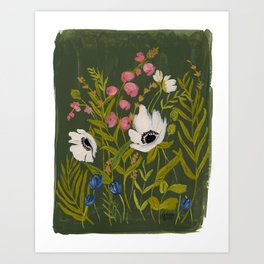 OLIVE BOTANICALS Art Print