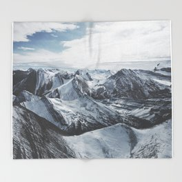 Snowy Mountains of Alberta Throw Blanket