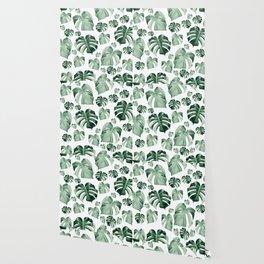 Tropical Monstera Pattern #2 #tropical #decor #art #society6 Wallpaper
