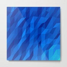 Blue Polygon v1 Metal Print