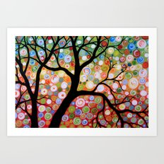 Shadows In the Trees Art Print