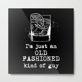 Old Fashioned Guy Metal Print