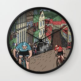 The Adventures of Capeman - The Great Bike Race Wall Clock