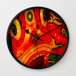 The lucky lion Wall Clock