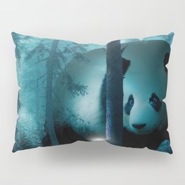 Giant Panda in a Forest Pillow Sham