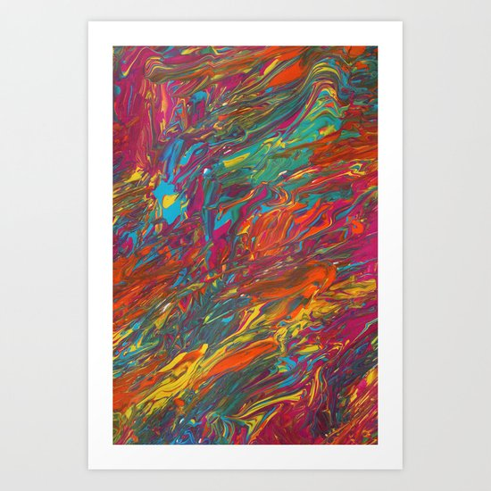 Gravity Painting 11 Art Print