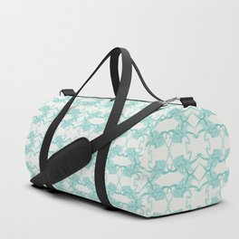 Blue Octacluar Octopus Duffle Bag