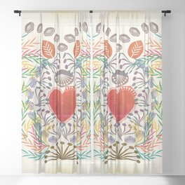 VALENTINE DAY Sheer Curtain