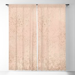 Hand painted coral pink faux gold splatters Blackout Curtain